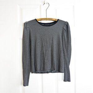 3/$30 🌞 ZARA Puff Sleeve Striped top